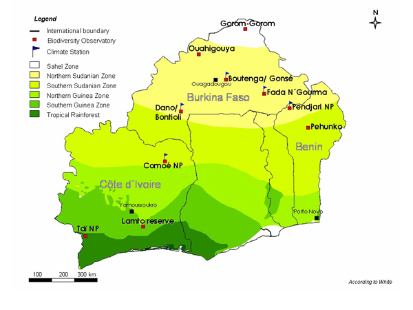 vegetation zones in africa map